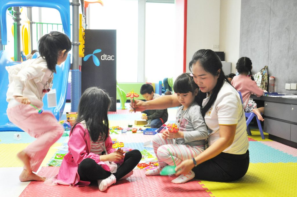 dtac House welcomes children who can't go to school due to pollution