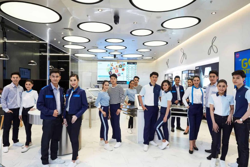 dtac launched new staff uniforms with brilliant idea of using textiles that offer environmental sustainability
