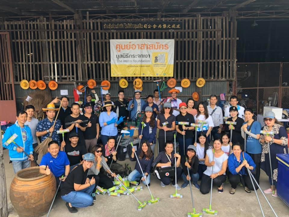 """""""dtac arsa langbaan"""", dtac's flood damage restoration project. The real volunteering spirit of dtac."""