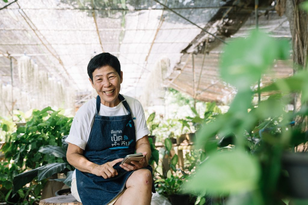 Chiang Mai woman goes mobile and digital to live independently in her senior years